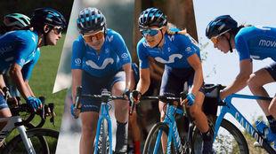 Las cuatro ciclistas que acaban de renovar.