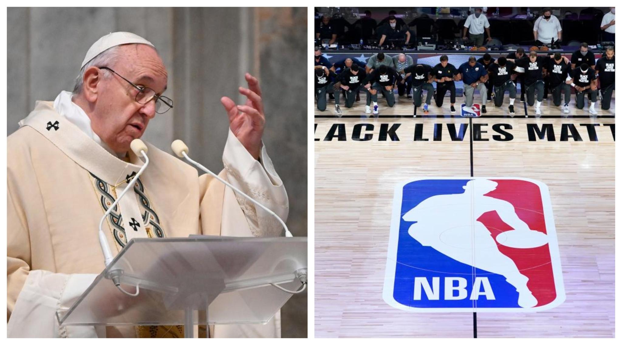 Jugadores de la NBA visitan al Papa para hablar sobre justicia social