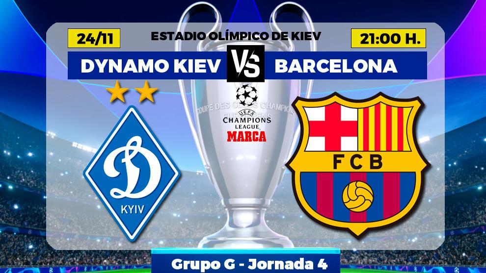 Dynamo Kiev - Barcelona: horario, canal y donde ver hoy por TV el...