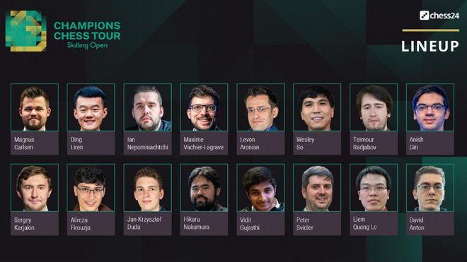 Así fue la segunda jornada del Skilling Open con Carlsen, Antón, Nakamura...