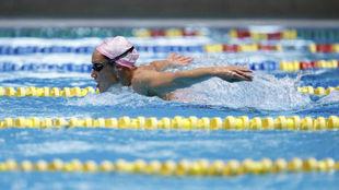 Mireia Belmonte, durante un entrenamiento.