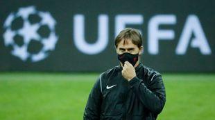 El técnico sevillista Julen Lopetegui (54), en Krasnodar.