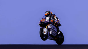 Albert Arenas, con la SpeedUp de Moto2 en Portimao.