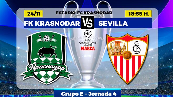Krasnodar vs Sevilla: A por el visado de octavos