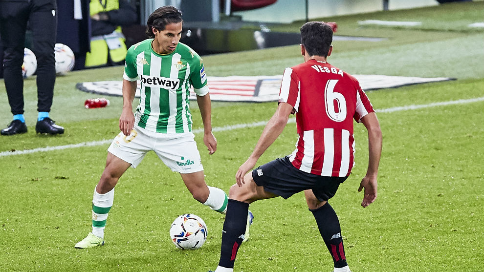 Lainez, frente al Athletic