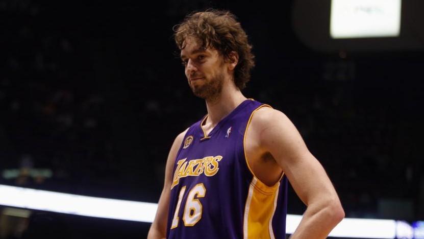 Pau Gasol, en un partido con los Lakers.