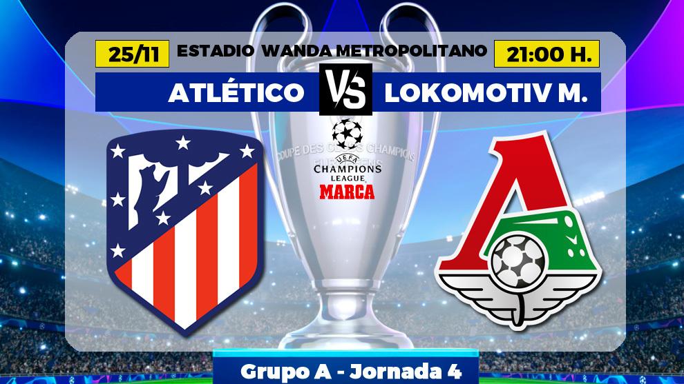 Atletico - Lokomotiv: horario, canal y donde ver por TV hoy el partido...