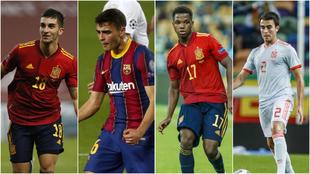 Ferran Torres, Pedri, Ansu Fati y Eric García son algunos de los...
