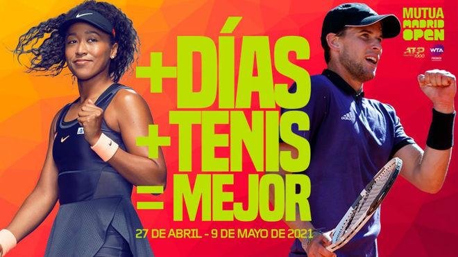 Naomi Osaka y Dominic Thiem, en el cartel de la próxima edición del...