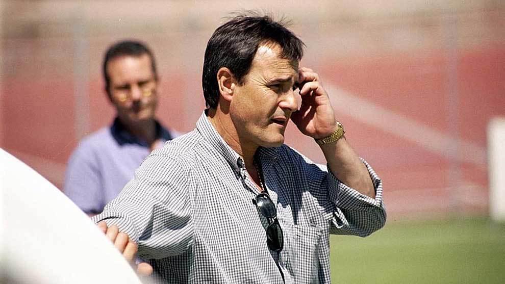 Manolo Romero, en su etapa como entrenador del Coslada en el año 1999
