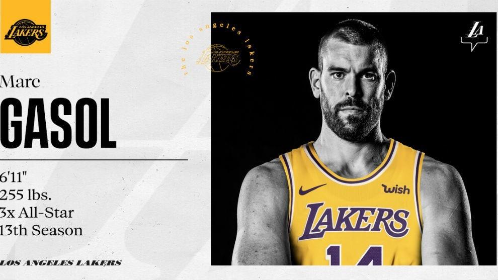 Marc Gasol lucirá el número 14 en los Lakers, ya que el 33 que...