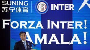 El empresario Zhang Jindong, fundador de Suning, en el evento de la...