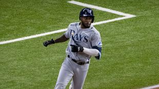 Randy Arozarena, beisbolista de los Rays de Tampa Bay.