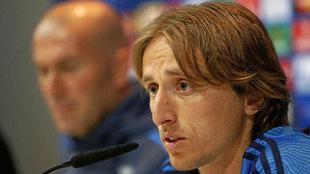Luka Modric, durante la rueda de prensa
