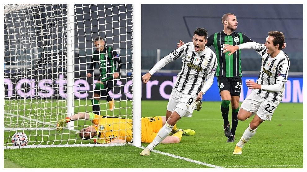 Morata rescata a la Juve en el minuto 92