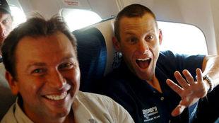 Armstrong y Bruyneel, en 2005.