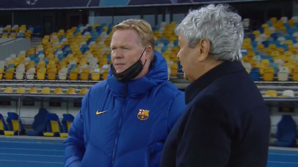 Koeman and Lucescu.