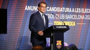 Toni Freixa, en su presentación de la candidatura.