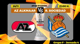 AZ Alkmaar - Real Sociedad: horario, canal y donde ver por TV hoy el...