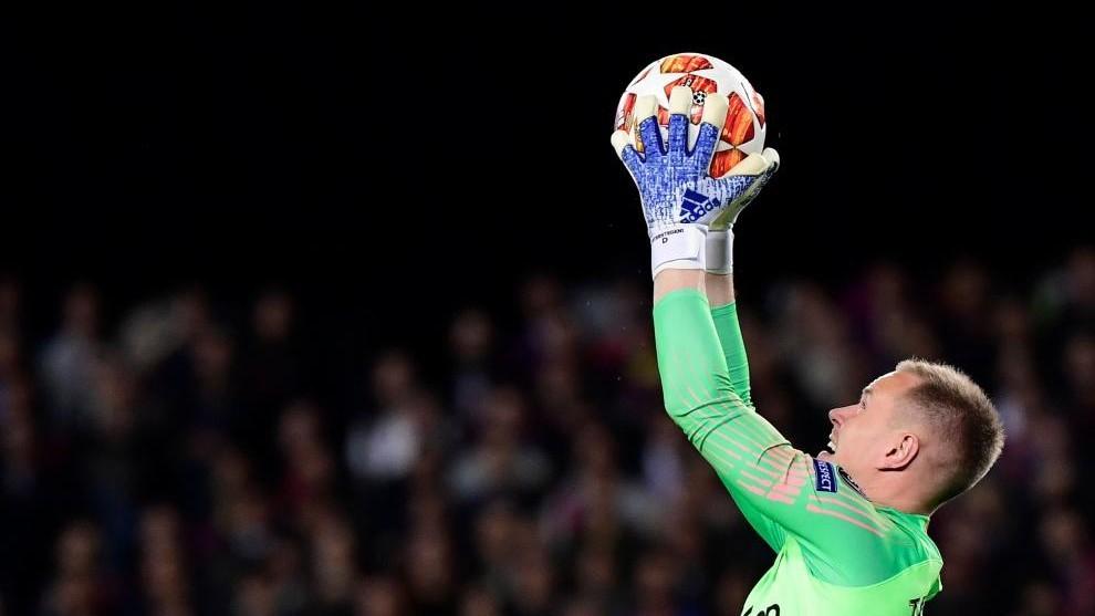 Ter Stegen, en un partido del Barcelona en la Champions League