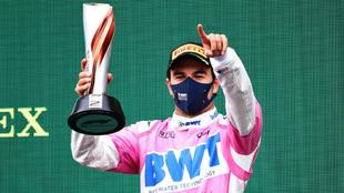 Checo Pérez subió al podio en el GP de Turquía.