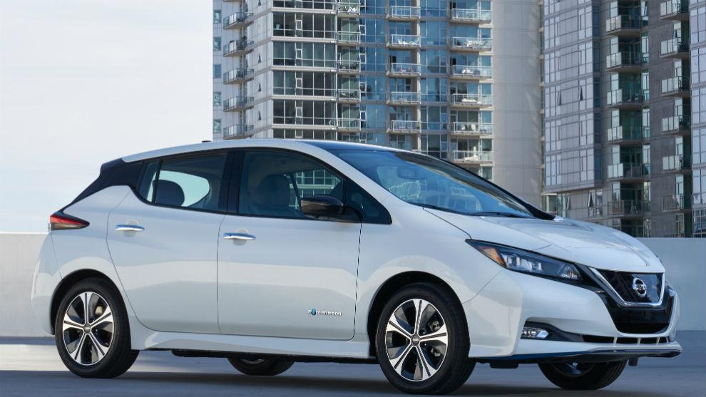 Un Nissan Leaf como los adquiridos por la Guardia Civil.