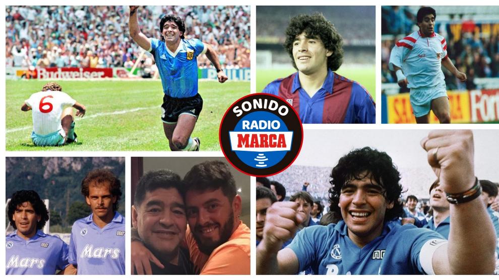 Diego Aramando Maradona en diferentes momentos de su carrera