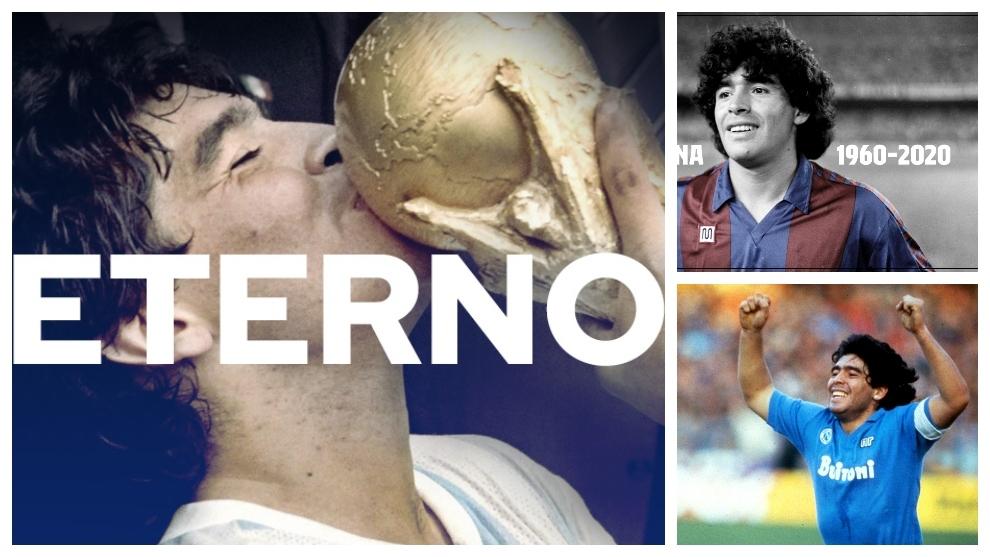 """Así reaccionaron los equipos de Maradona a su fallecimiento: """"Serás eterno en  el corazón del planeta fútbol"""""""