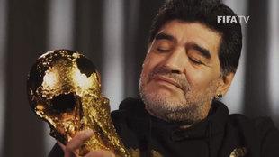 """Así recordó para la FIFA Maradona su Copa del Mundo de 1986: """"La amo"""""""