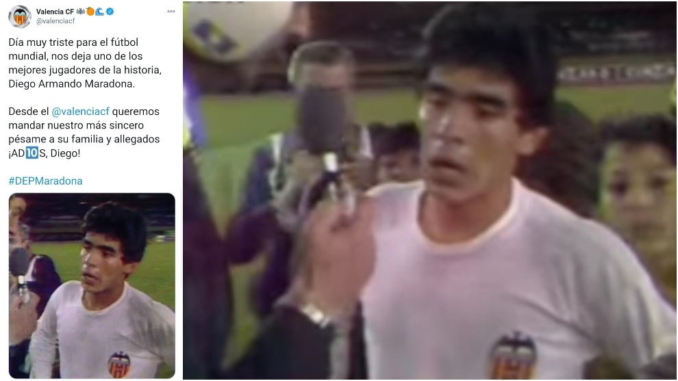El día que Maradona pidió la camiseta de Kempes en el Valencia