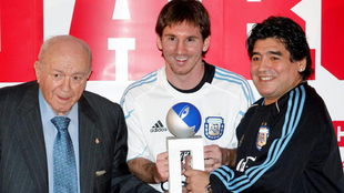 El sentido mensaje de despedida de Messi a Maradona