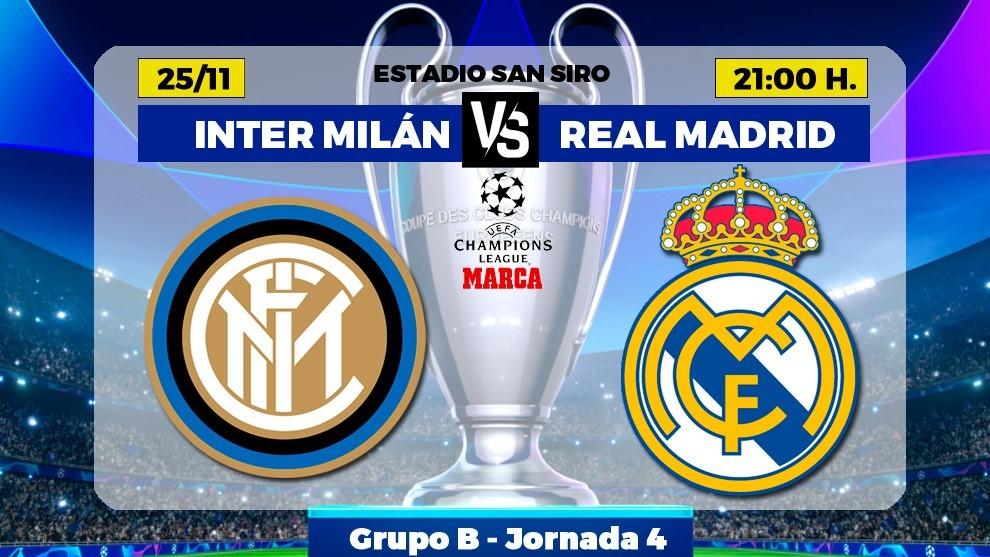 Alineaciones confirmadas del Inter-Real Madrid: Casemiro suplente, Zidane repite equipo