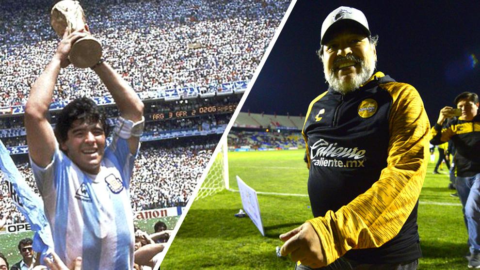 Maradona brilló en México con Argentina y Dorados de Sinaloa. |