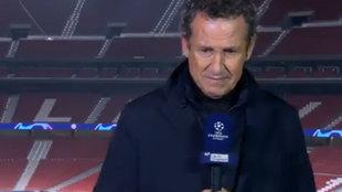 Valdano rompe a llorar recordando a Maradona en directo