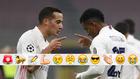 Lucas celebra el 0-2 con Rodrygo