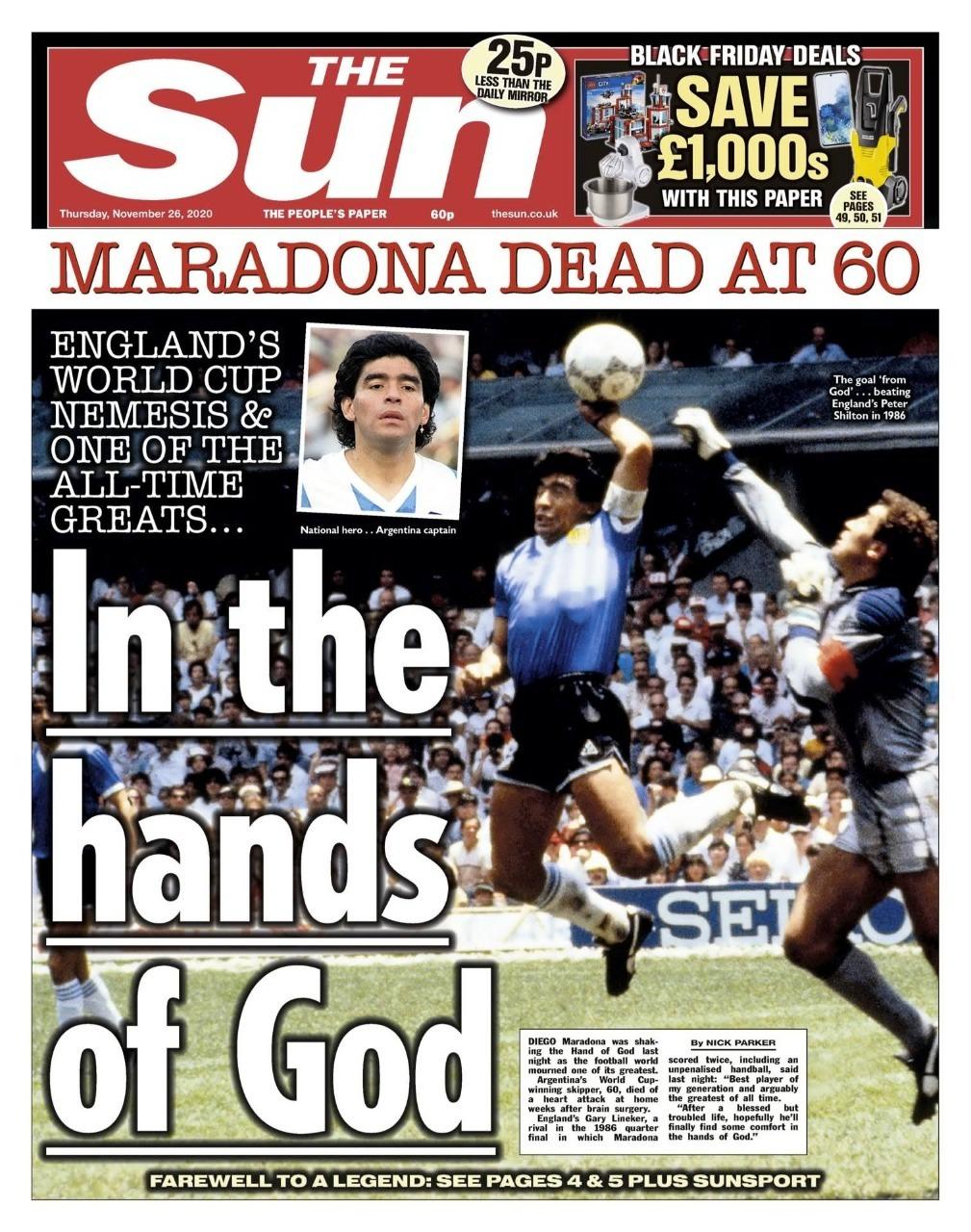 Fallece Diego Armando Maradona al sufrir un paro cardíaco  16063471292849