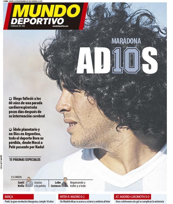 Fallece Diego Armando Maradona al sufrir un paro cardíaco  16063474874603