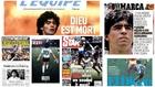 Homenaje mundial a Maradona... y una portada que desentona