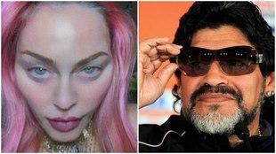 Madonna y Maradona Twitter