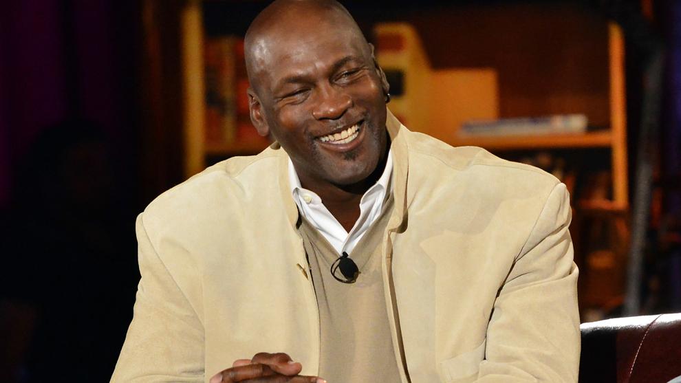 Michael Jordan durante una entrevista