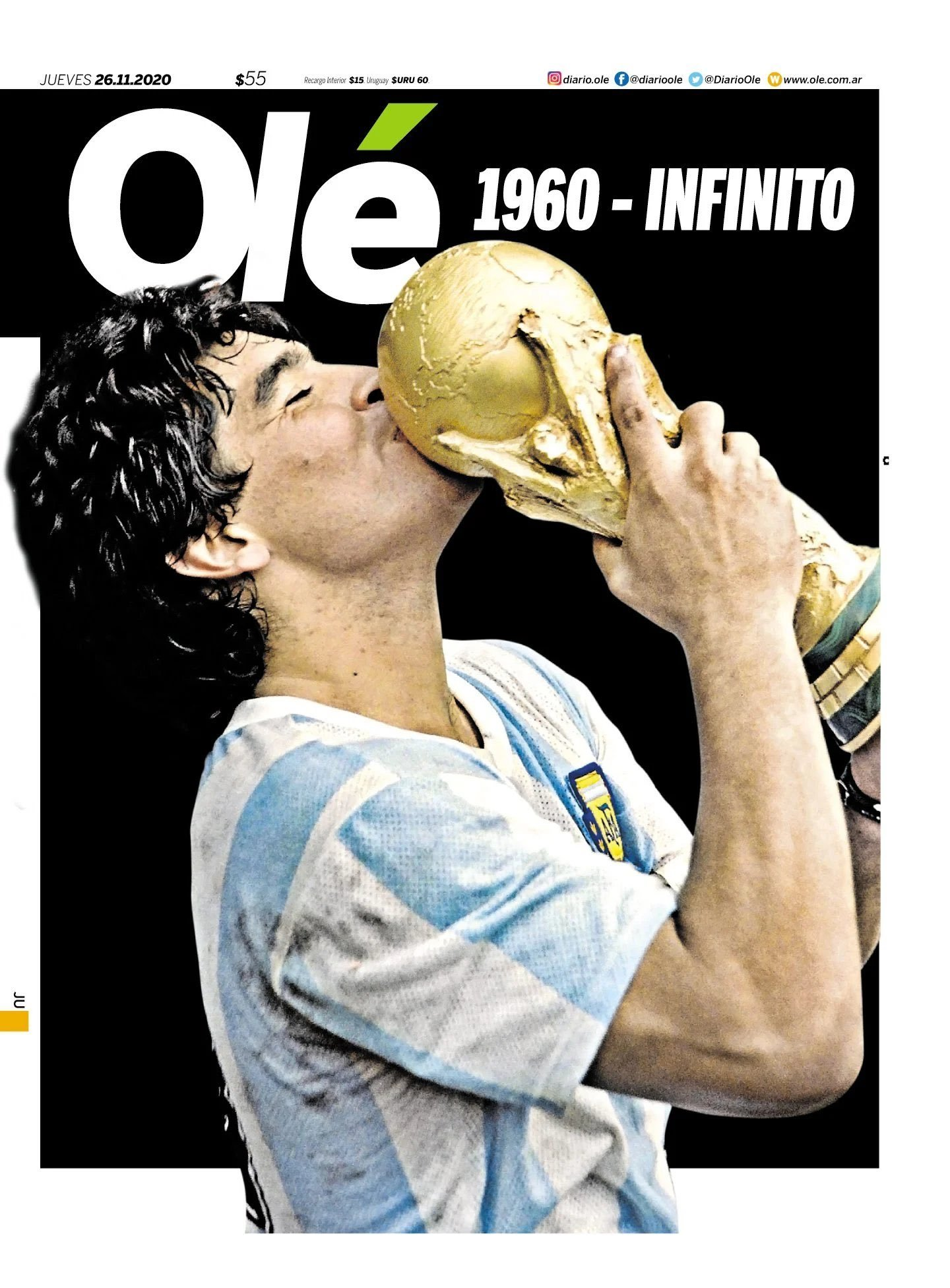 Fallece Diego Armando Maradona al sufrir un paro cardíaco  16063857061950