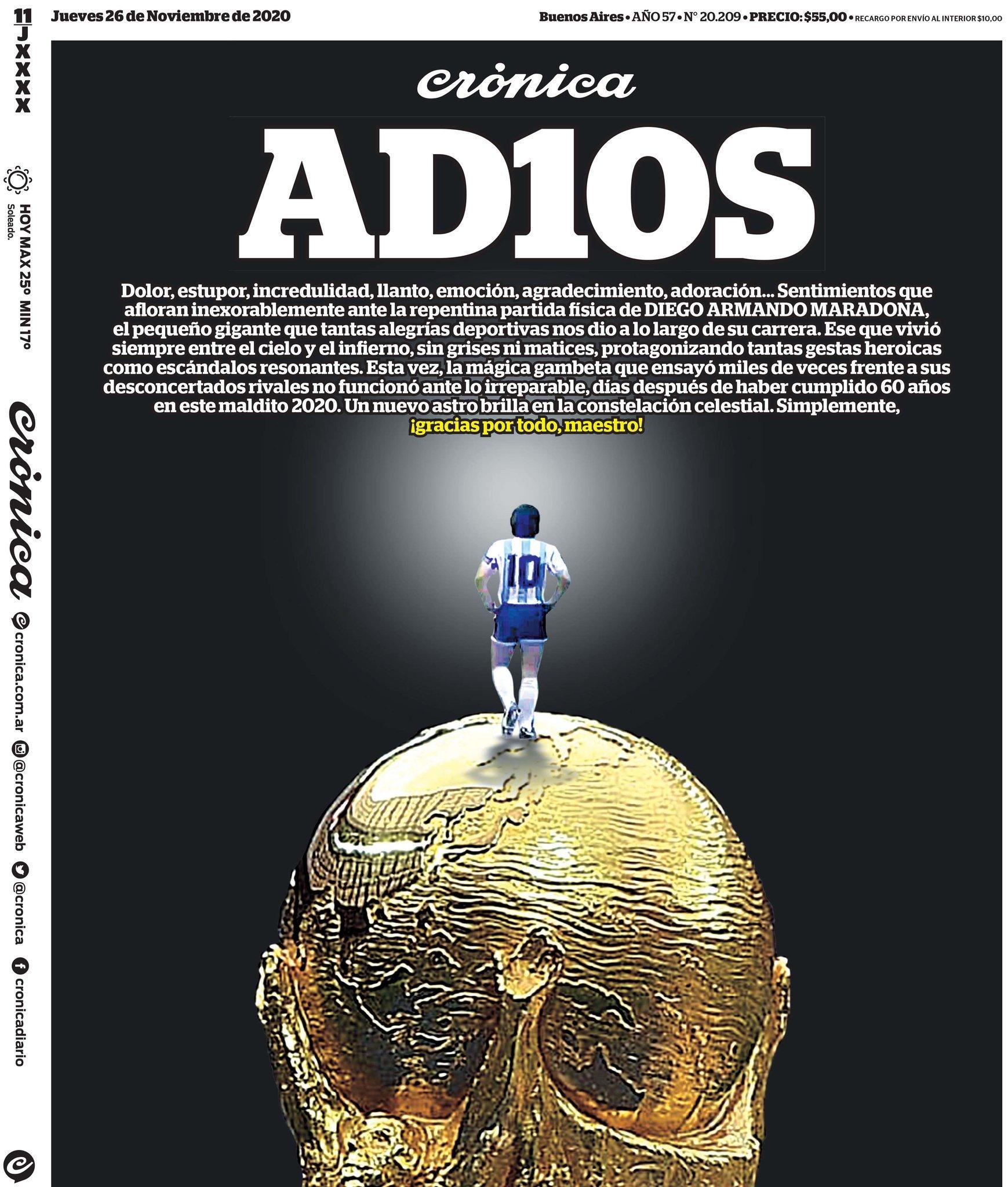 Fallece Diego Armando Maradona al sufrir un paro cardíaco  16063860206434