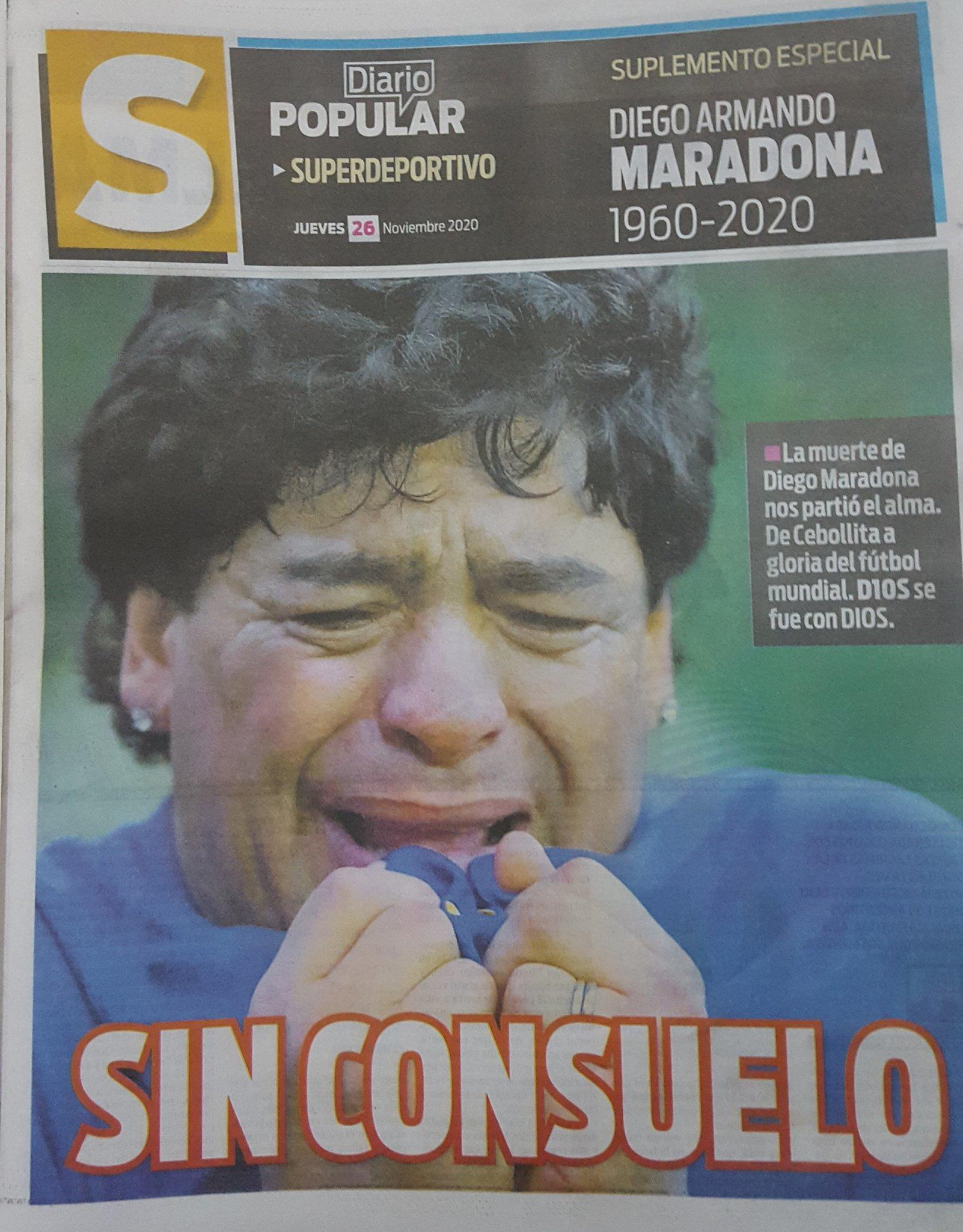 Fallece Diego Armando Maradona al sufrir un paro cardíaco  16063860618614