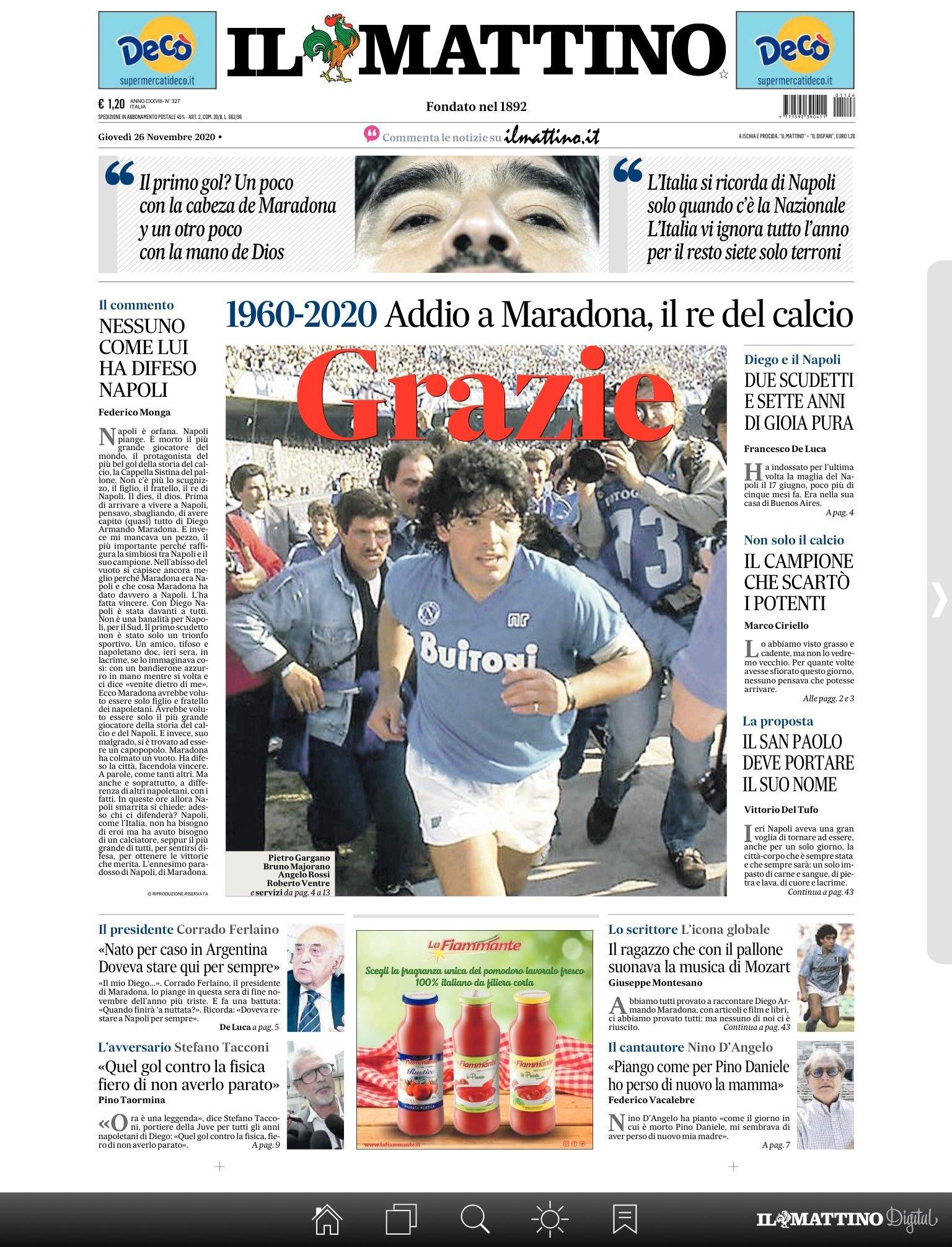 Fallece Diego Armando Maradona al sufrir un paro cardíaco  16063869832518