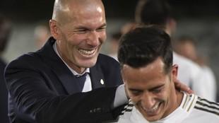 Zidane y Lucas, tras la conquista de la 34ª Liga