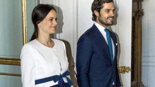 El príncipe Carlos Felipe de Suecia y su esposa la princesa Sofía....