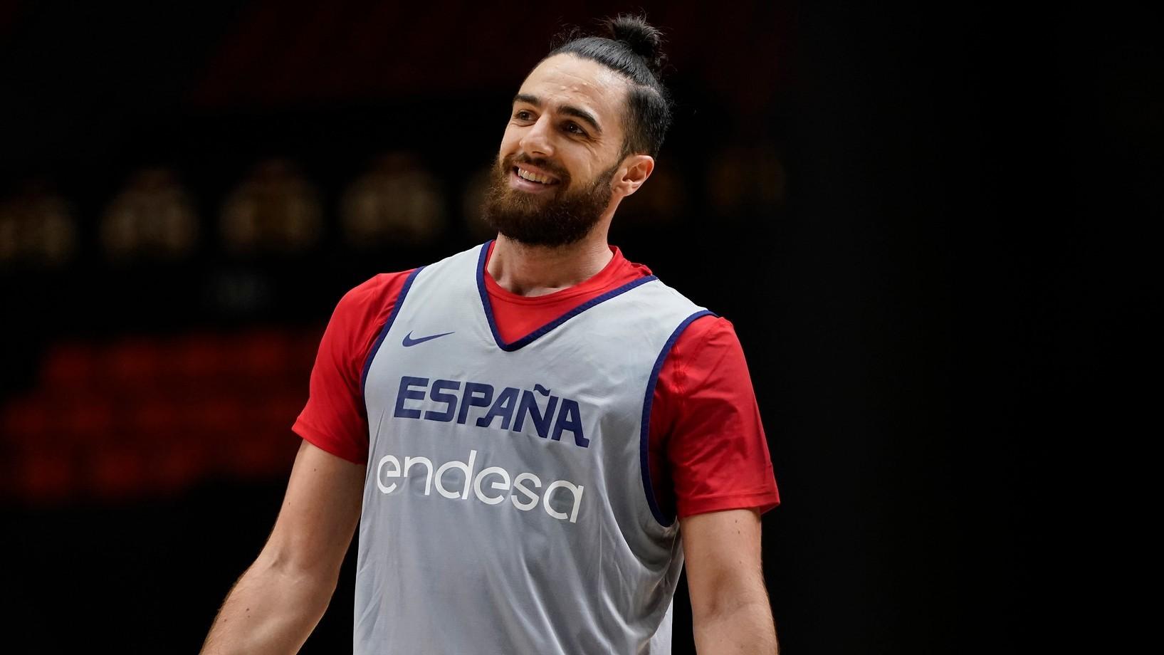 Francis Alonso, en un entrenamiento de la selección española.