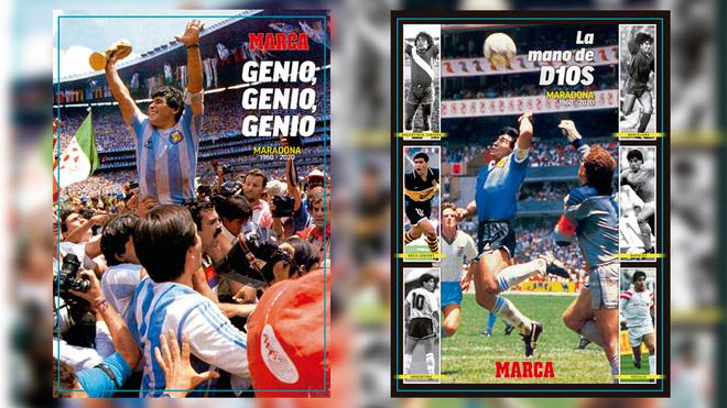Mañana, gratis con MARCA, una superfoto de Maradona para el recuerdo
