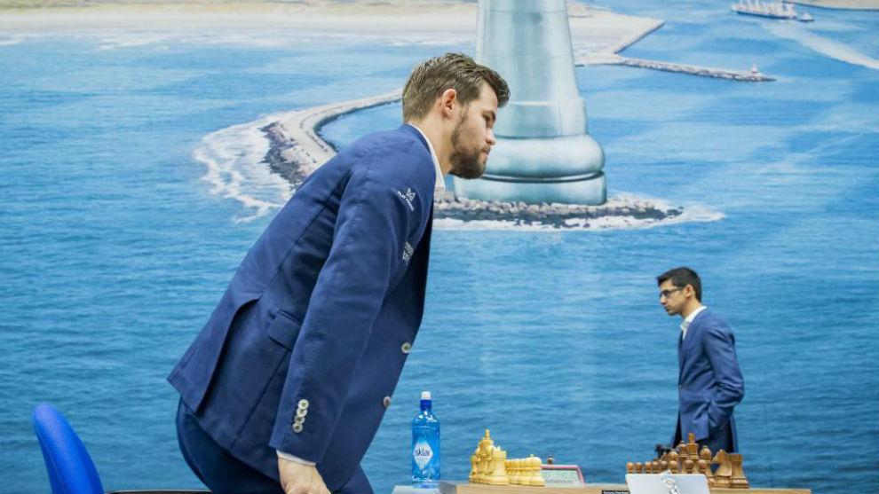 Magnus Carlsen y Anish Giri.