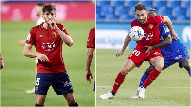 David García y Adrián, con Osasuna.